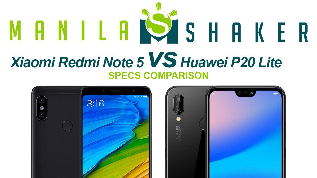 Xiaomi Redmi Note 5 vs Huawei P20 Lite — Specs Comparison