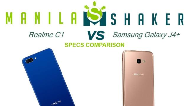 realme c1 vs samsung galaxy j4+ specs comparison review