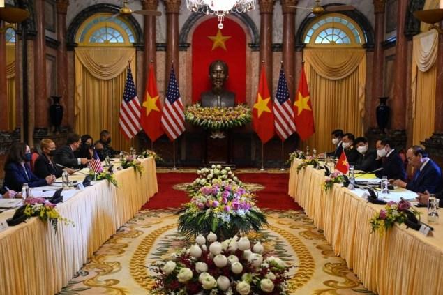 Harris in Hanoi as Afghan debacle rumbles   The Manila Times