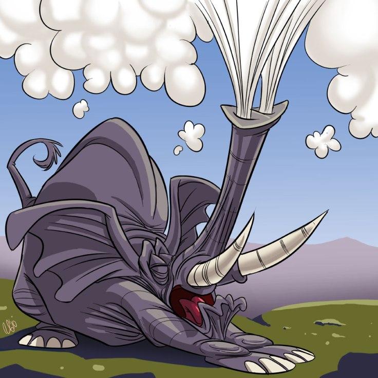 sneezing elephant by superstinkwarrior dwo