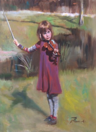 Mary Playing the Violin