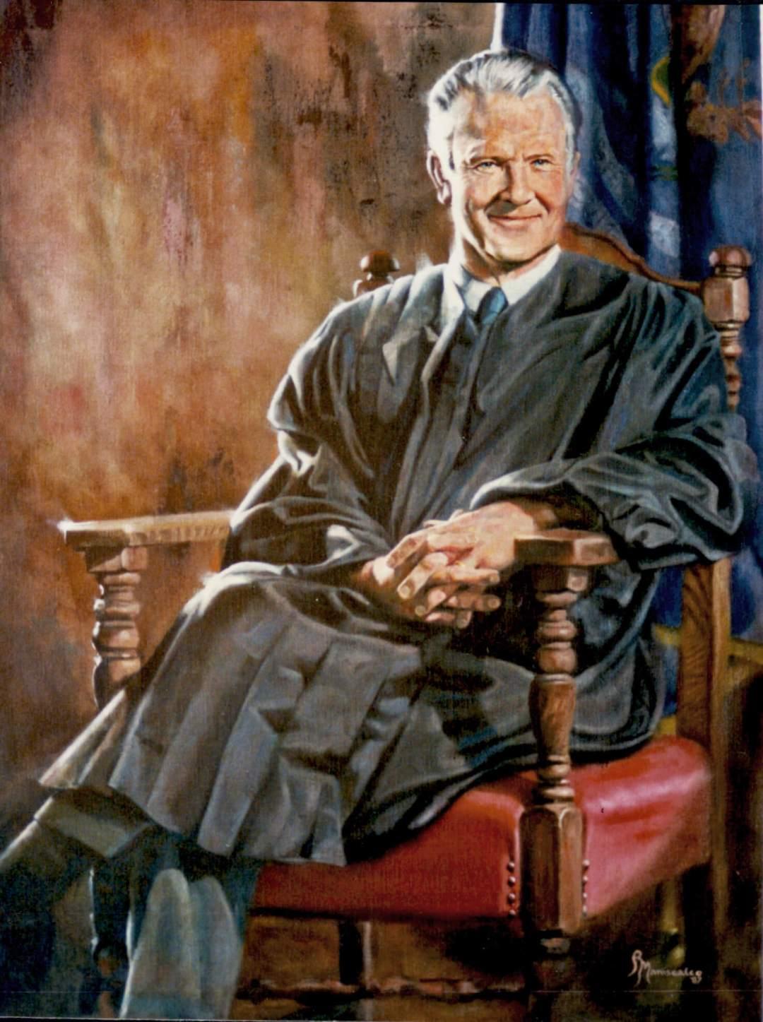 portrait painter of judstice Blair Moodys