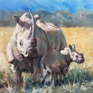 Rhinos - Mother and Calf