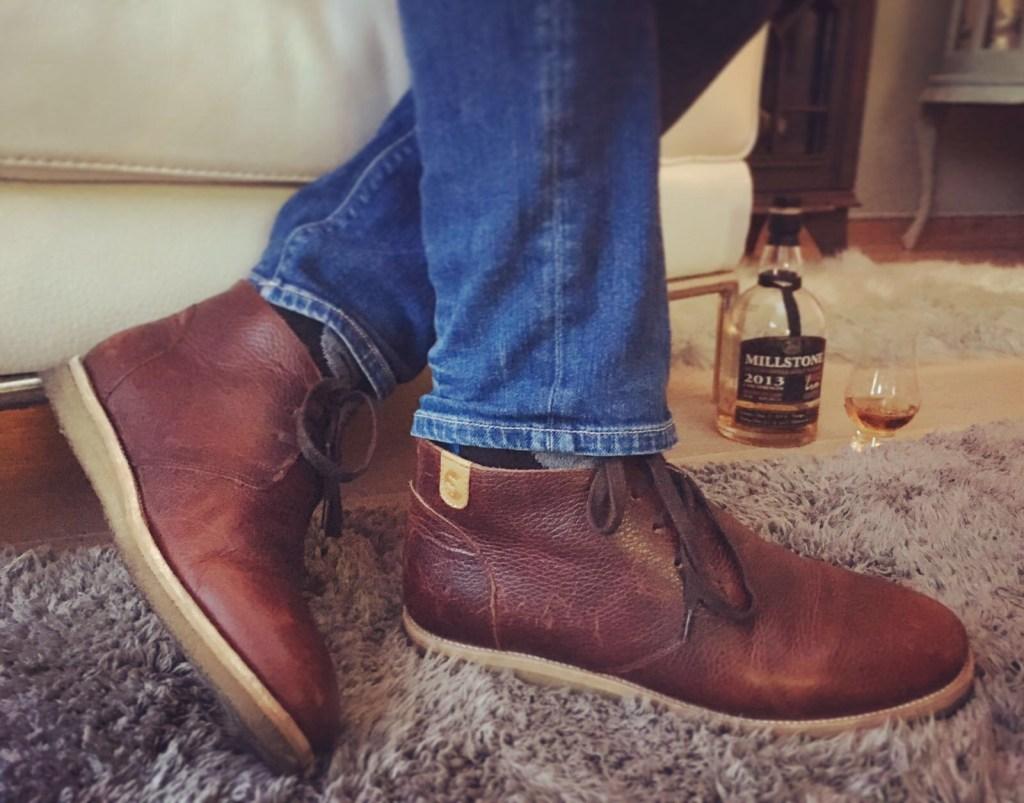 Wednesday Whiskey Schoenen Bruin/Rood leer
