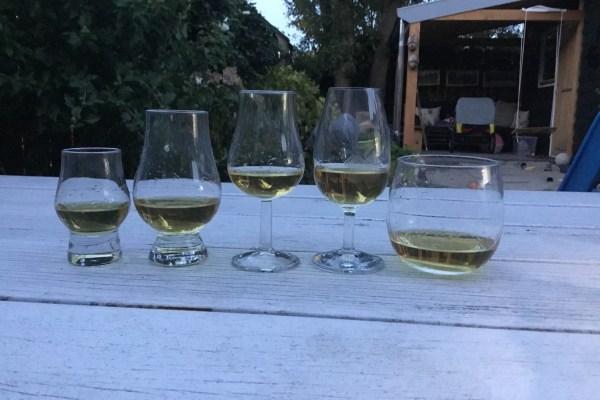Verschillende Whiskey glazen Manisfaction