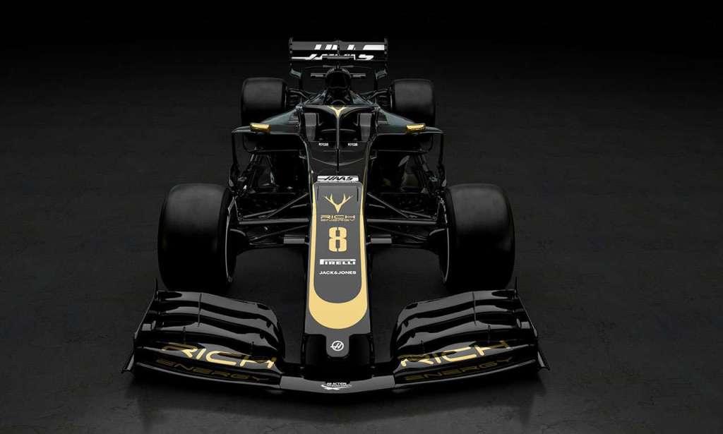 f1 auto Haas 2019 vooraanzicht