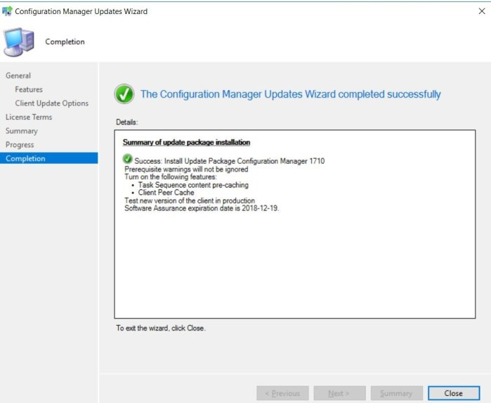 SCCM (System Center Configuration Manager) 1710 Step by Step Upgrade Guide 16