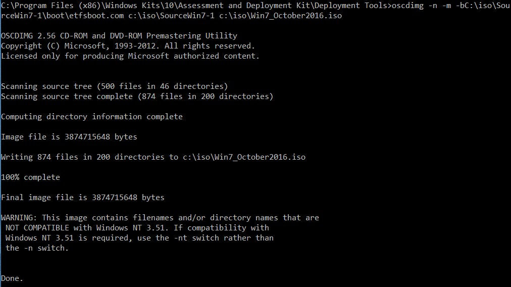Windows 7: Creating Fully patched Image by Slipstream in the Convenience Rollup and Quality Rollup 12