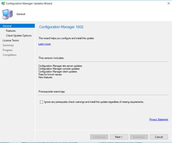 SCCM (System Center Configuration Manager) 1802 Step by Step Upgrade Guide 7