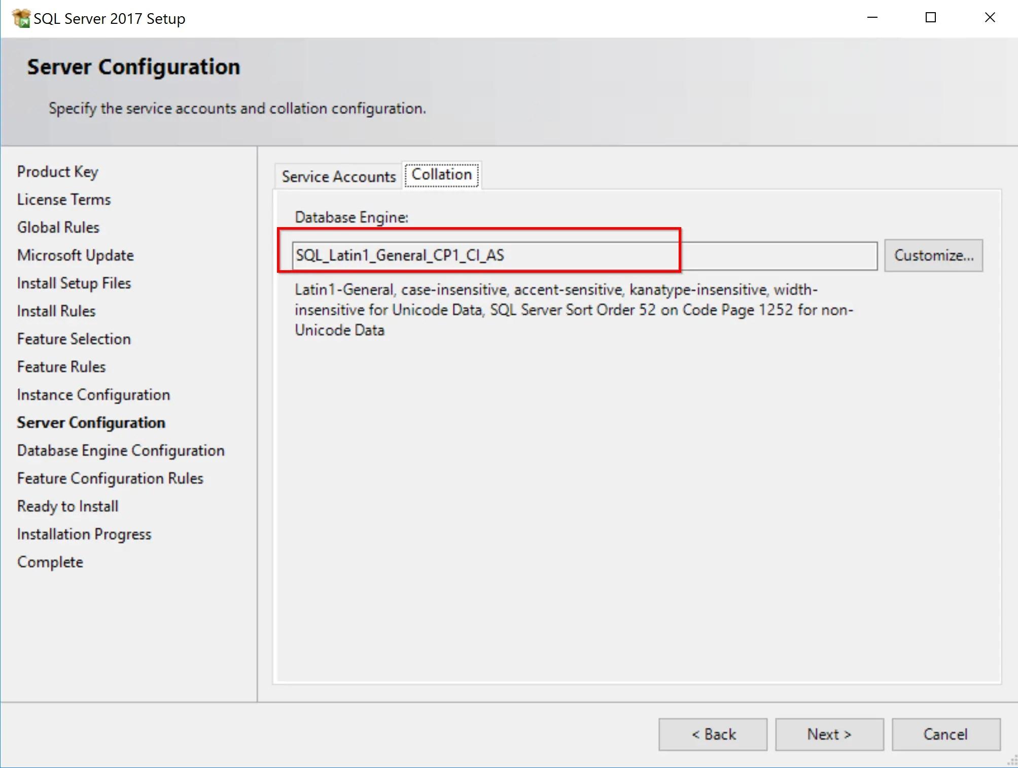 SQL Server 2017 Step by step for SCCM Installation 10
