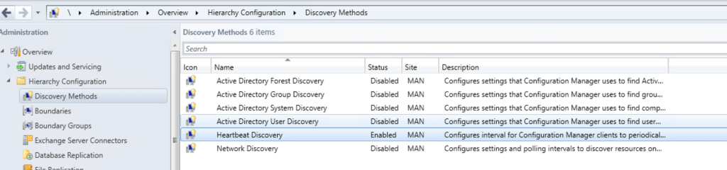 Setting up Discovery Methods for SCCM 1