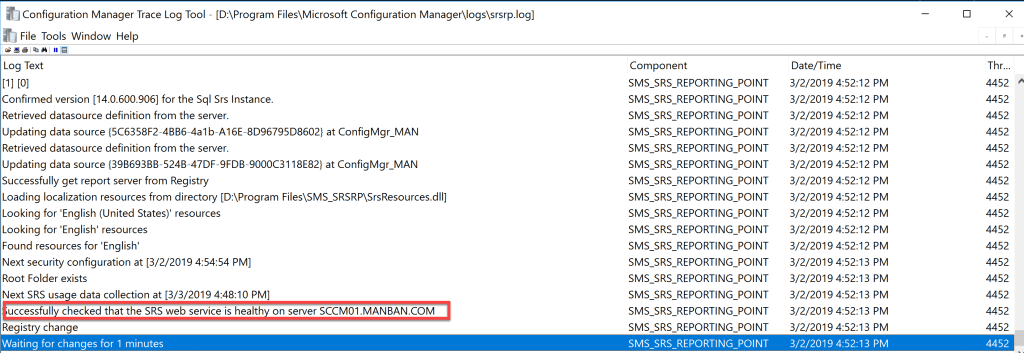 Reporting Services Point Role Installation - SCCM 8