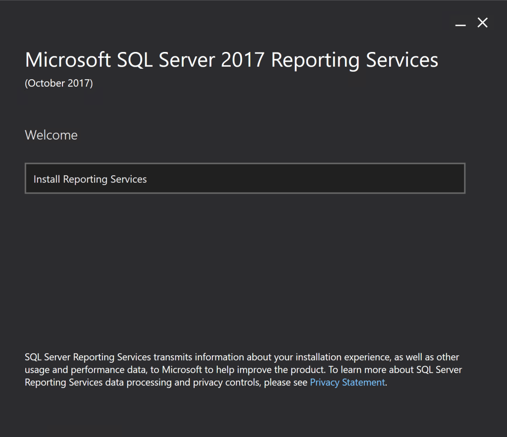 Install SQL Server 2017 Reporting Services 1