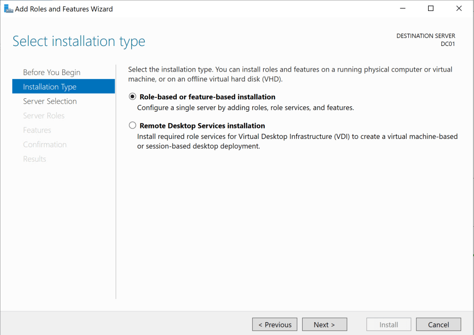 Install Active Directory Server 4