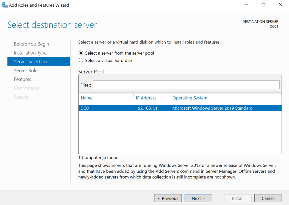 Install Active Directory Server 5