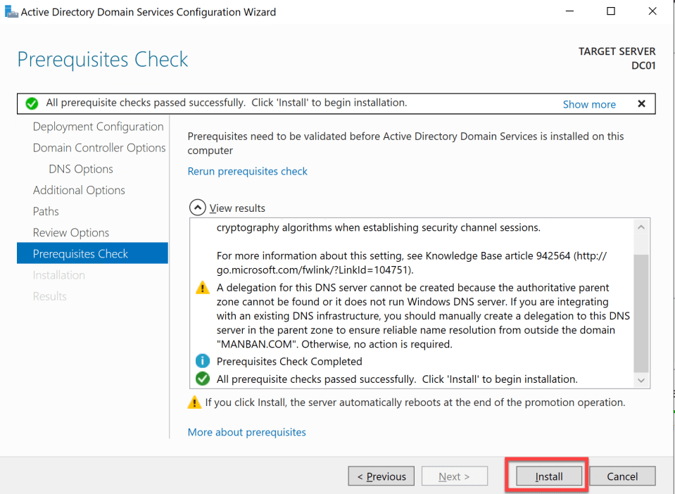 Install Active Directory Server 21