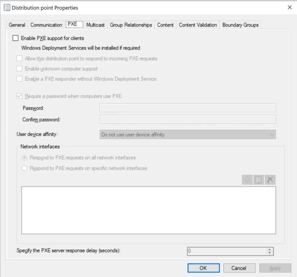 SCCM PXE Boot Configuration 2