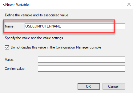Prompt for Computer name during task sequence 2