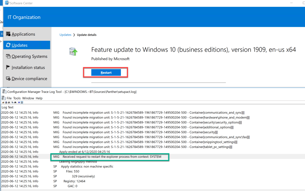 How to deploy drivers using Setupconfig.ini for feature update through SCCM 15