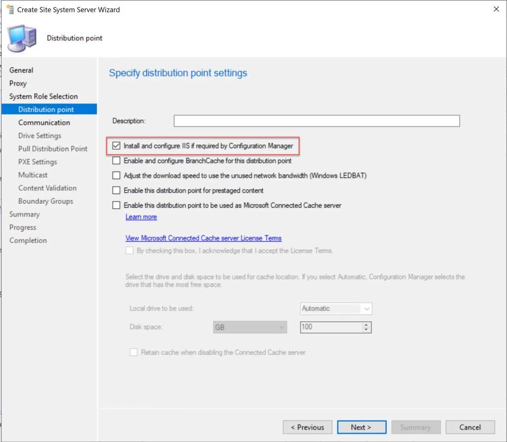 Install Configure SCCM Distribution Point 8