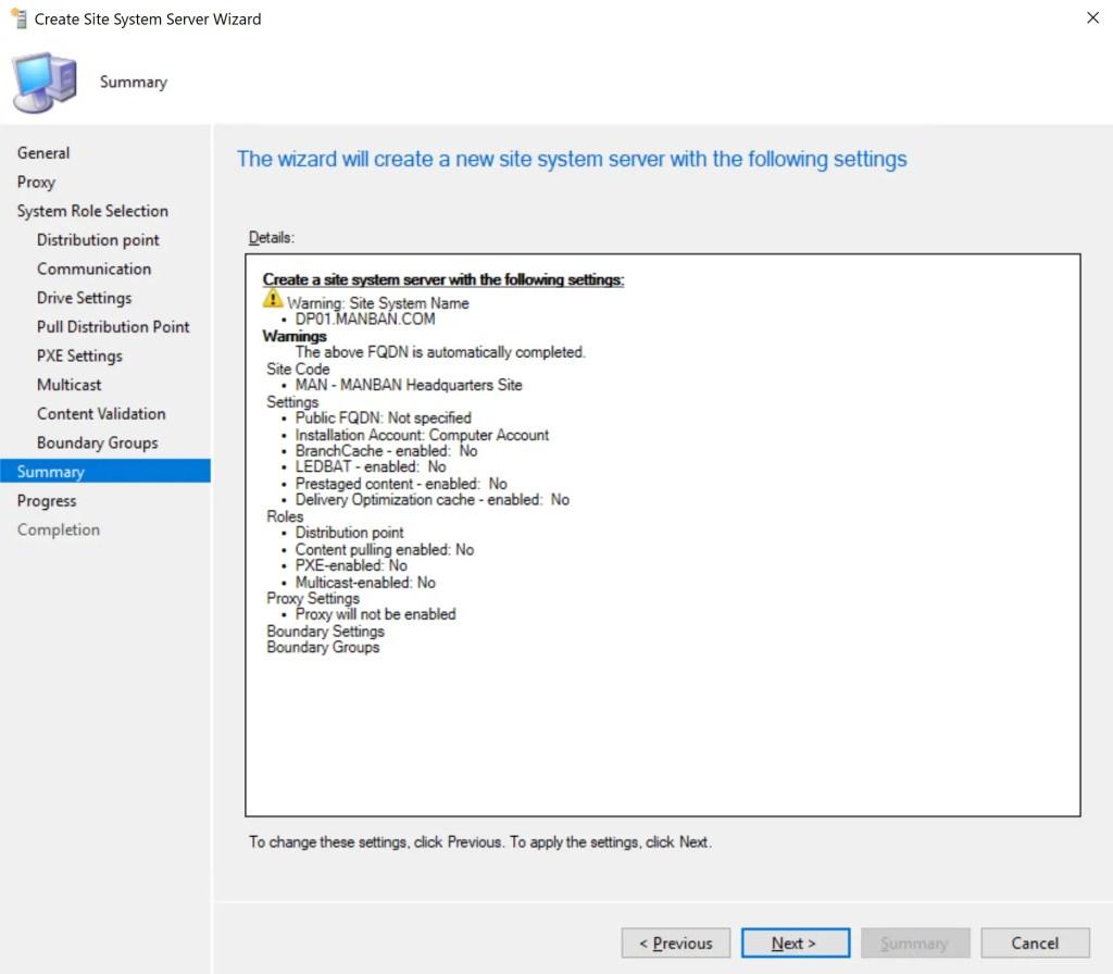Install Configure SCCM Distribution Point 16