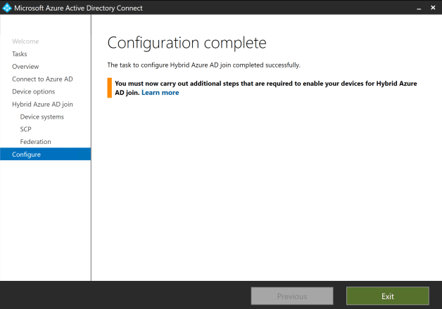 Configure Hybrid Azure AD join 11