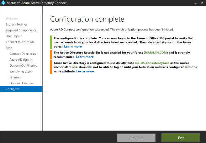 How to connect AD DS with Azure AD through AD Connector 9