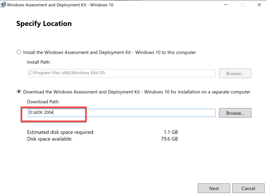 How to update Windows ADK 2004 on SCCM Server 3