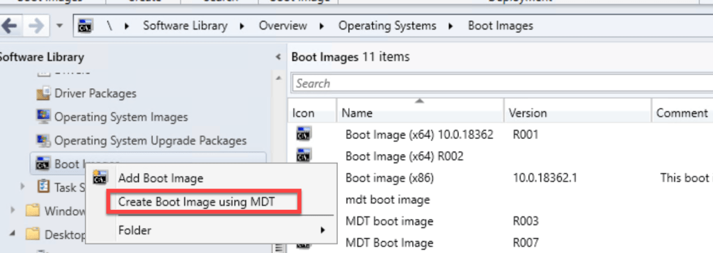 How to integrate MsDart with SCCM Boot Image 6