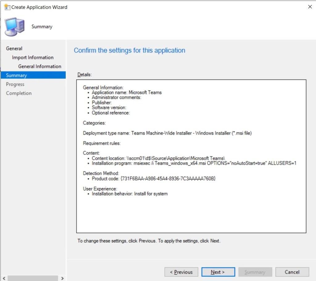 How to Deploy Microsoft Teams through SCCM 4