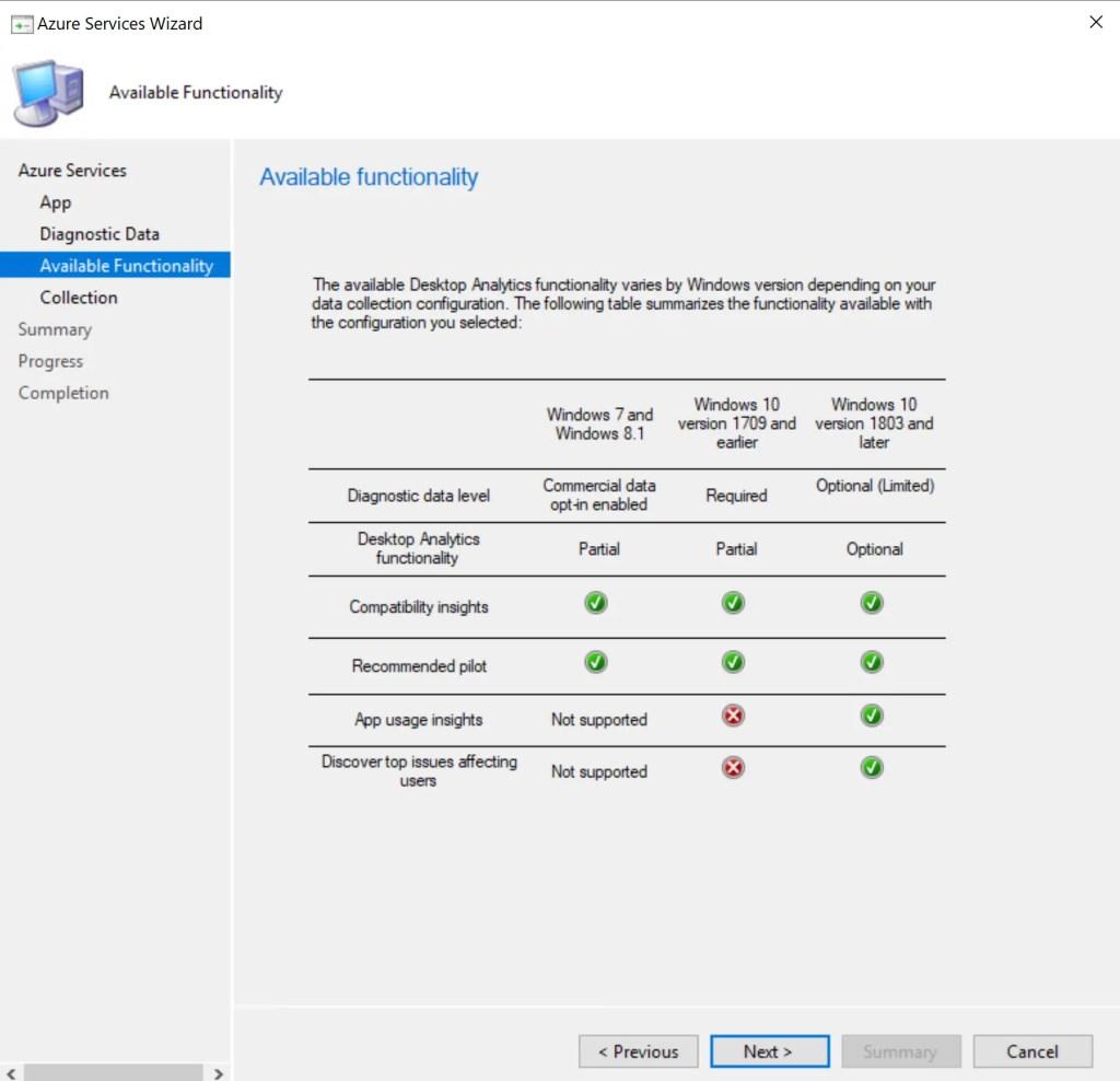 Set up Desktop Analytics to integrate with SCCM 21
