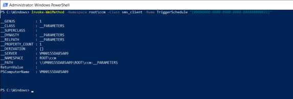 Initiate SCCM client agent actions using command line 3