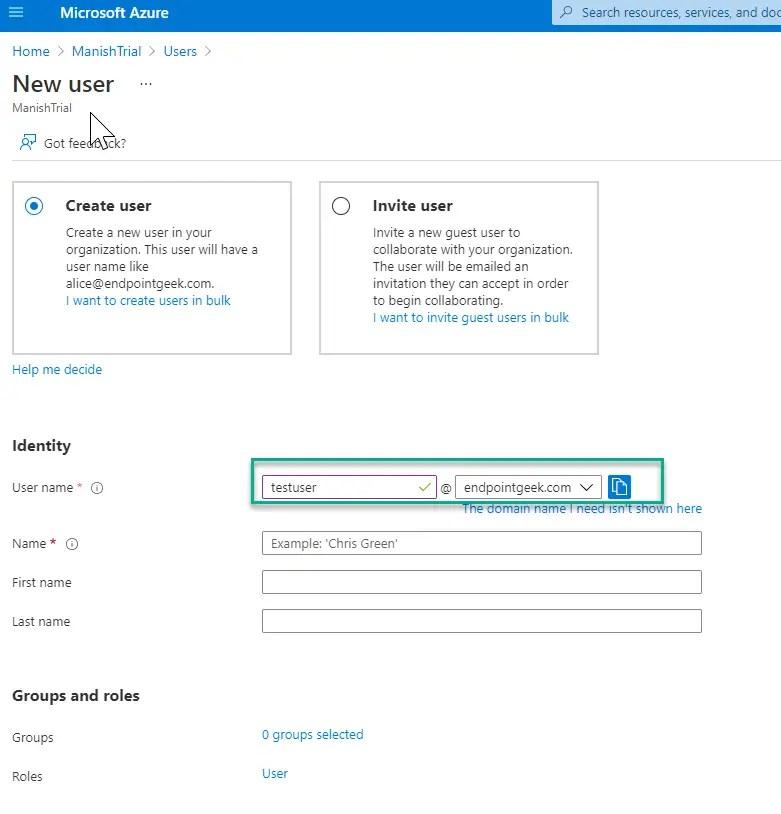 Add Custom domain name to Azure AD 4