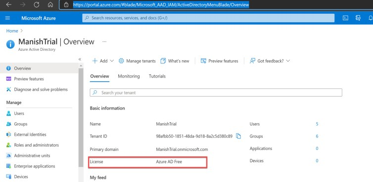 Azure Active Directory Blade