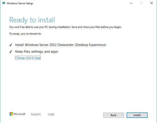 Ready to install