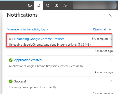 Uploading Google Chrome Browser