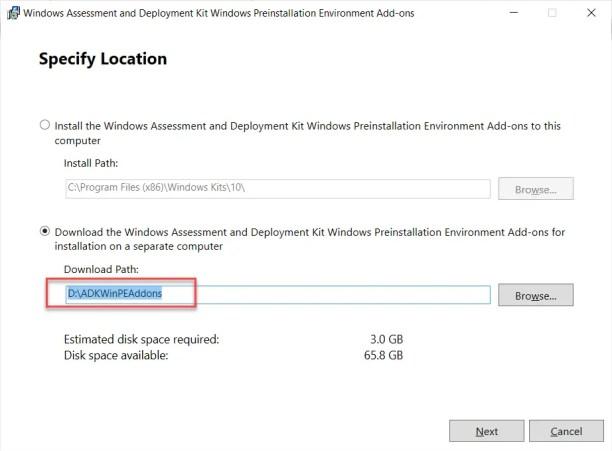 •Windows Assessment and Deployment Kit Windows Preinstallation Environment Add-ons