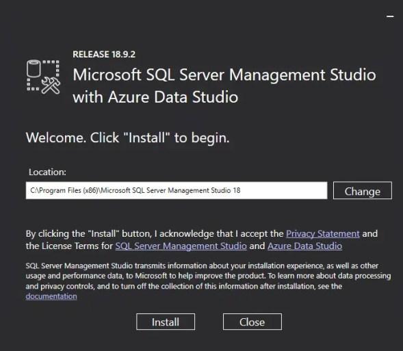 Mirosoft SQL Server Management Studio with Azure Data Studio