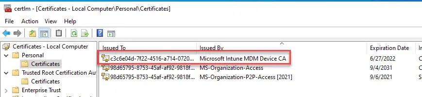 Microsoft Intune MDM Device CA