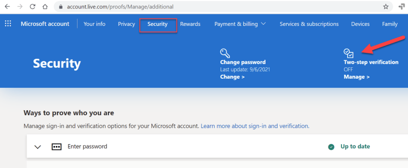 How to setup passwordless Microsoft account for your personal ID 2