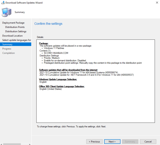 Deploy Windows 11 Software Update using SCCM 5