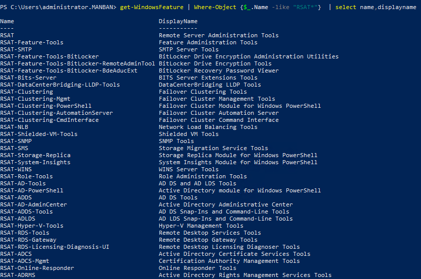 How to Install Remote Server Administration Tools (RSAT) on Windows Server 2