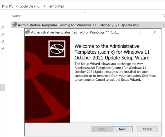 Welcome to the Administrative Templates