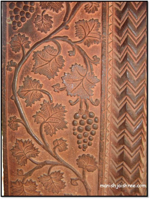 Detail from a pillar outside  the House of Turkish Sultana