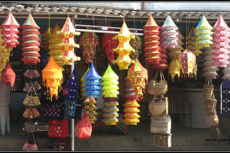 Paper Lamps in Orissa