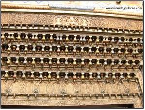 Wood work on Chaukhat