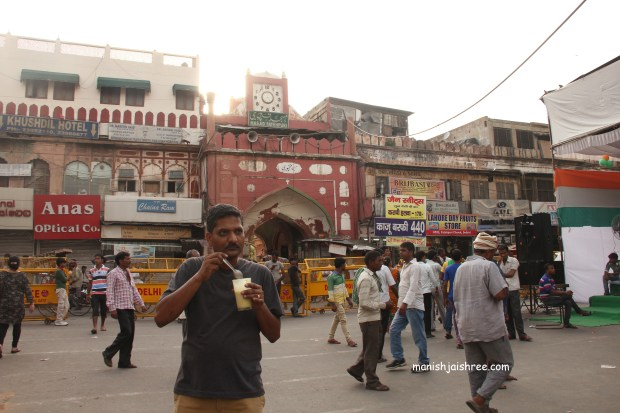 Lassi in the middle of Chandni Chowk.