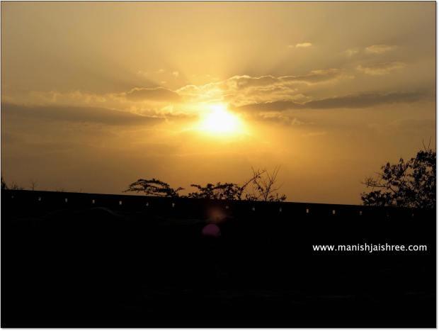 Sunset, Chittorgarh Fort