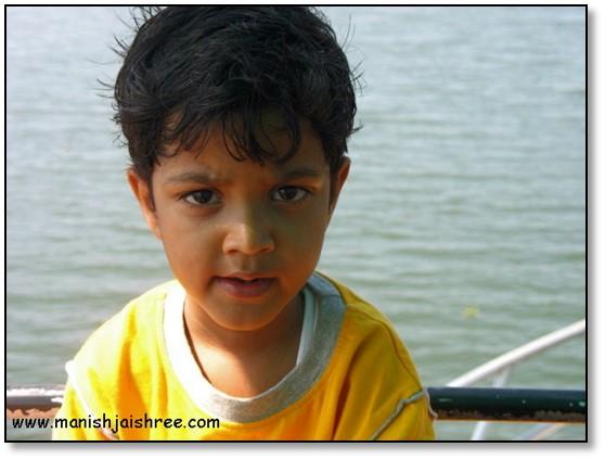 Rachit enjoying the cruise