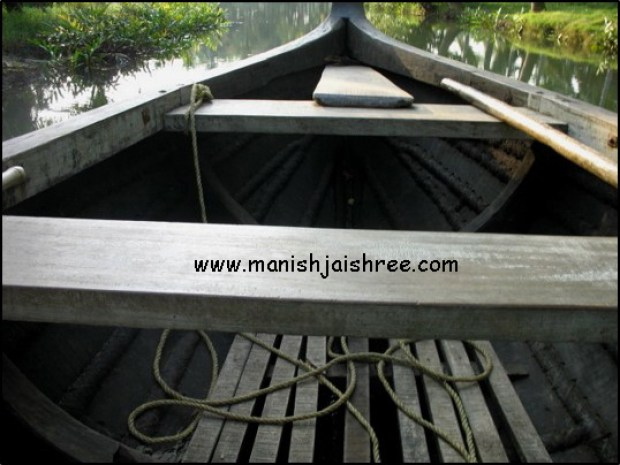Our boat in Munroe Island